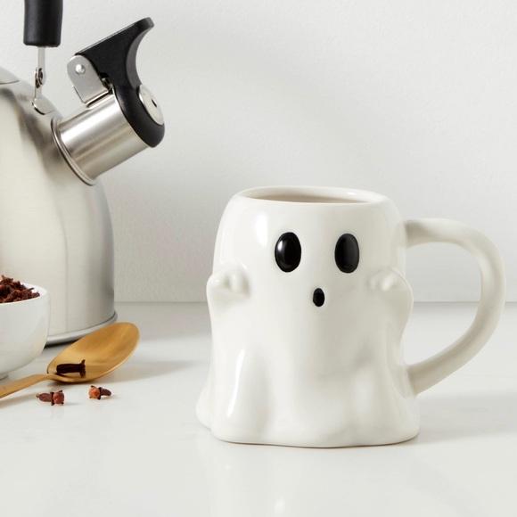 White Halloween Ghost Coffee Mug